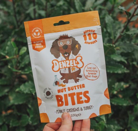 Denzel's Nut Butter Bites For Dogs Peanut Cashews & Turkey